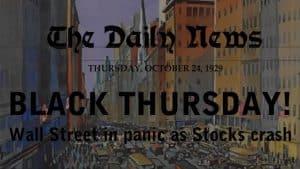 Black Thursday 1929