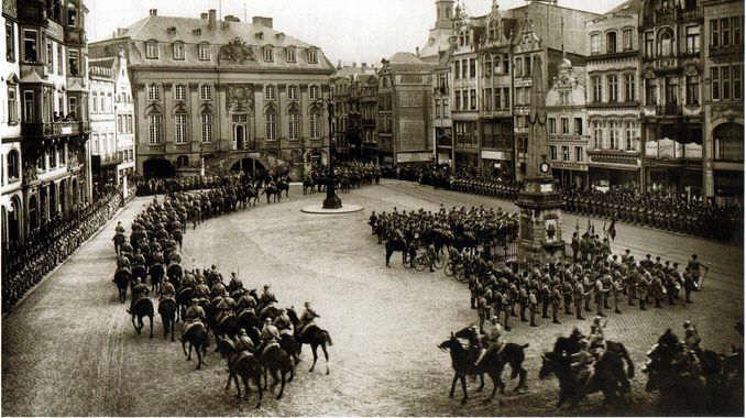 Weimarer Republik, Krisenjahr 1923, Französiche Truppen in Bonn