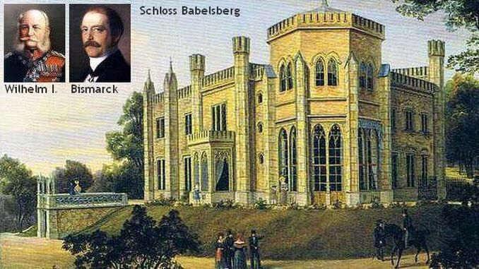 Schloss Babelsberg,Wilhelm I. und Bismarck