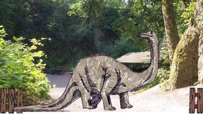 Ein Sauropode am Nasseplatz?