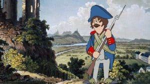 Franzosenzeit, Großherzogtum Berg, französischer Soldat am Rhein