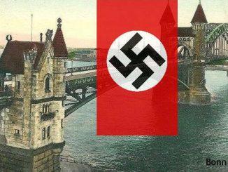 Nazi-Deutschland, alte Rheinbrücke, Bonn