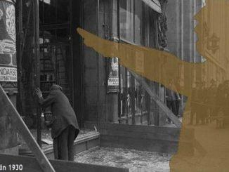 Weimarer Republik, die Republik zerfällt, Zerstörtes Geschäft in Berlin