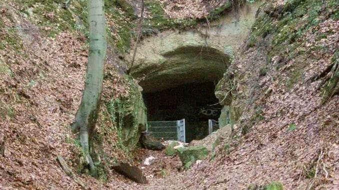 Ofenkaulen, Haupteingang zur stillgelegten Mine