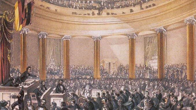 Nationalversammlung in der Frankfurter Paulskirche