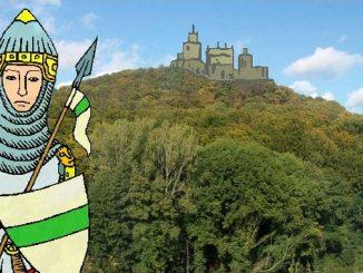 Skizze der Burg Wolkenburg