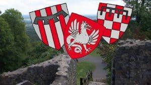 Friedrich II. und die Herren vom Siebengebirge, Hochmittelalter, Burg Löwenburg, Wappen