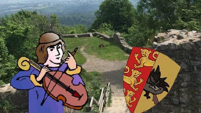 Ritter, Drachenschild, Burgruine Löwenburg