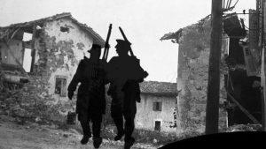 Erster Weltkrieg, zerstörte Häuser