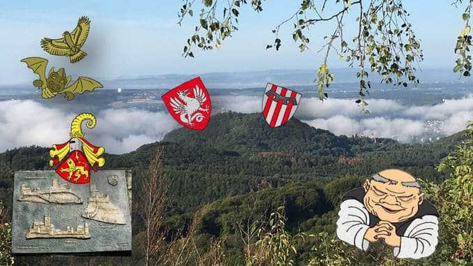 Siebengebirge, Wappen, Feldzeichen
