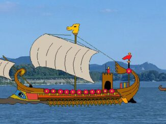 Römisches Schiff, Rhein und Siebengebirge